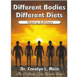 Discover which of the 25 unique men�s body types is yours � and which diet works best for you. Groundbreaking diet research for men from Dr. Carolyn Mein.