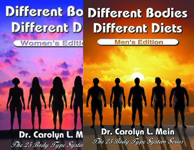 Discover which of the 25 unique women's body types is yours – and which diet works best for you. Groundbreaking diet research for women from Dr. Carolyn Mein.