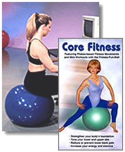 Medium Fitness Fun Ball with Core Fitness DVD
